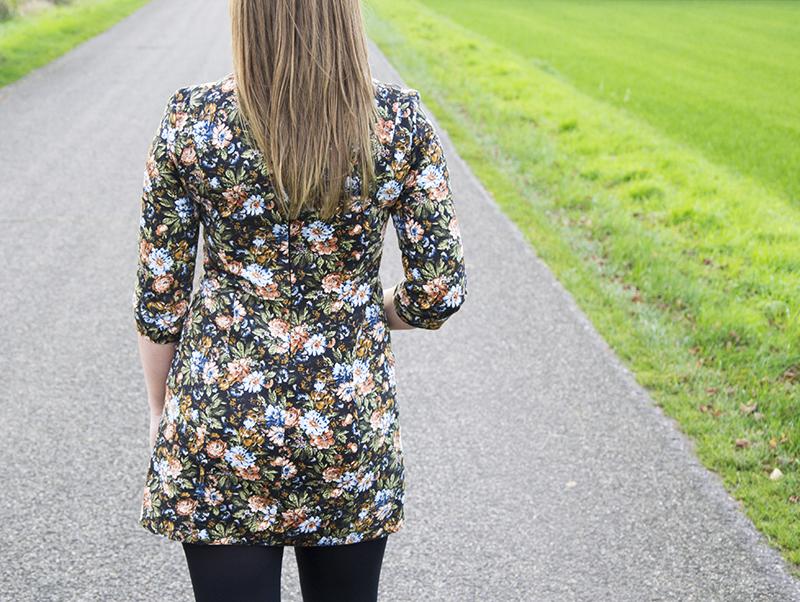 Jurkje bloemenpatroon Zara