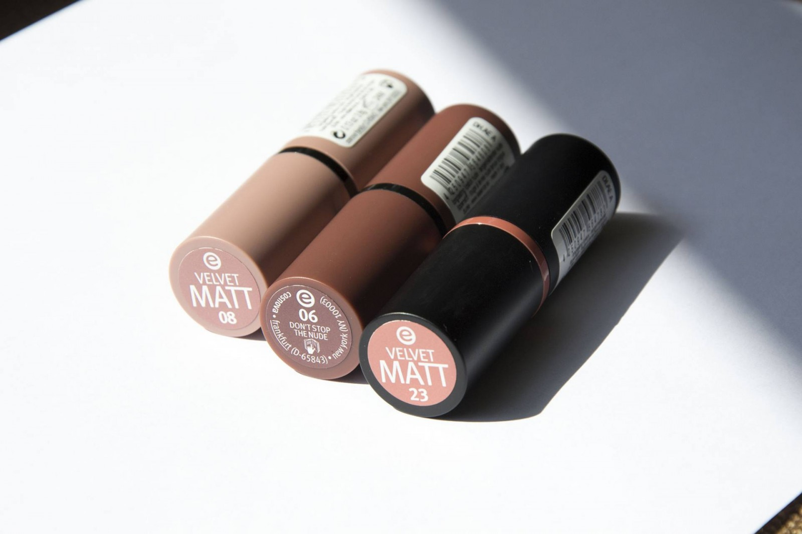 Essence nude lipsticks | Label of Suze